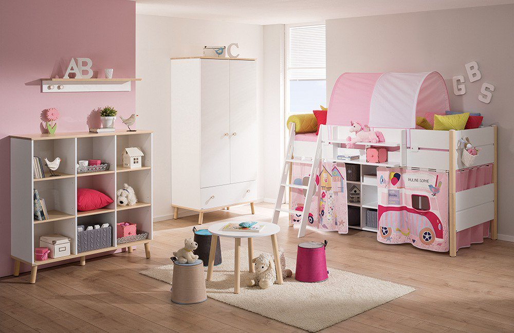 Kinderzimmer Paidi | Paidi Kinderzimmer Ylvie Kreideweiss Birke Mobel Letz Ihr Online Shop