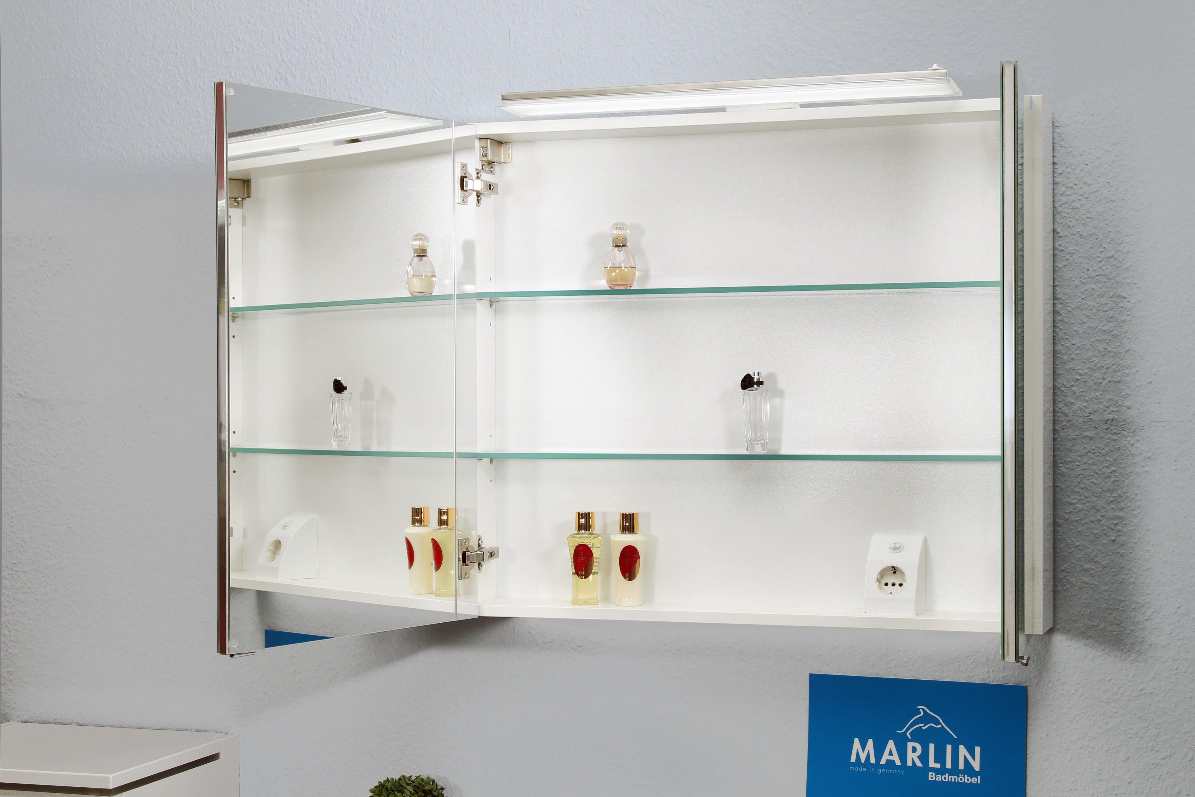 Marlin Badmöbel-Set 3130 Weiß Seidenglanz | Möbel Letz - Ihr Online-Shop