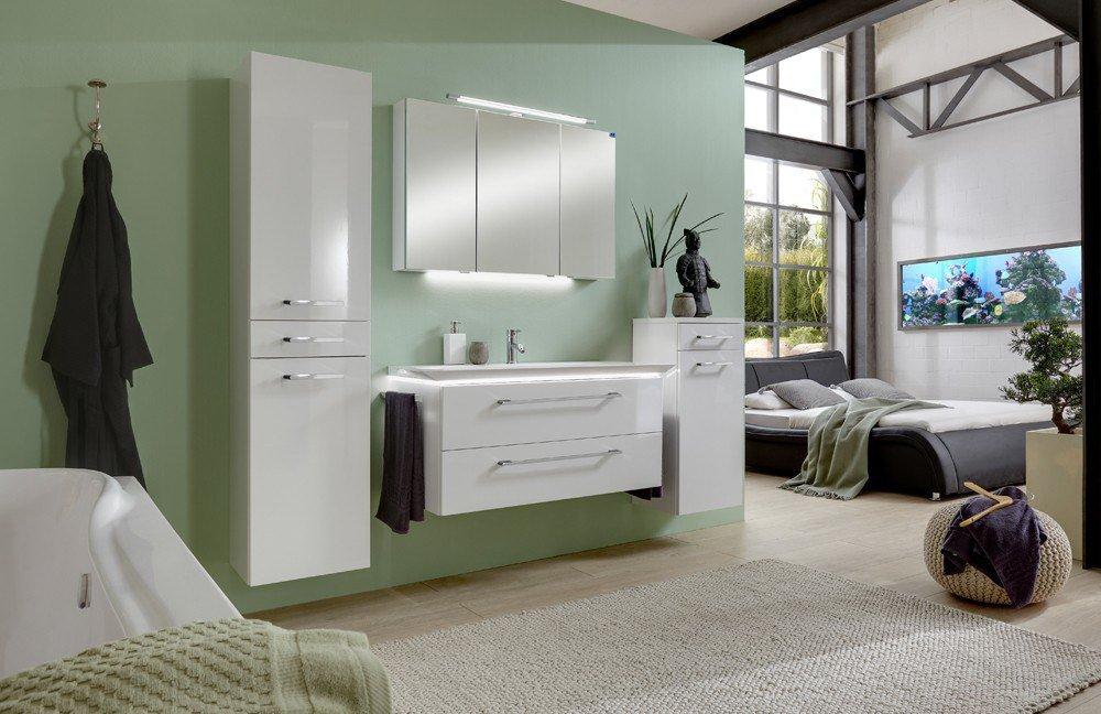 badezimmer 3170 wei gl nzend von marlin m bel letz ihr online shop. Black Bedroom Furniture Sets. Home Design Ideas