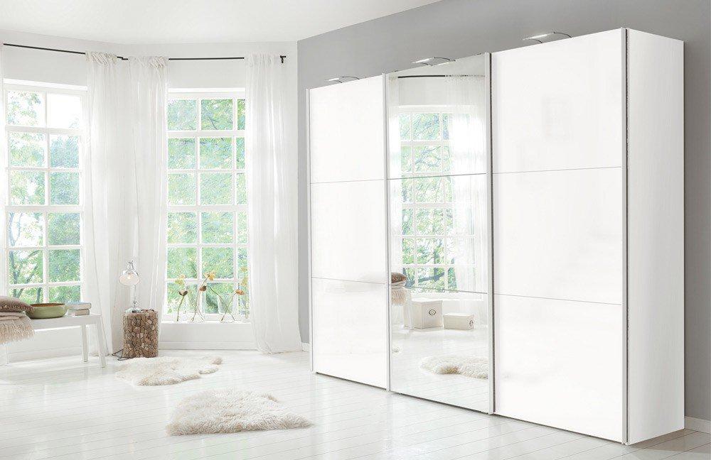 schwebeturenschrank design, express stars design weißglas satiniert | möbel letz - ihr online-shop, Design ideen