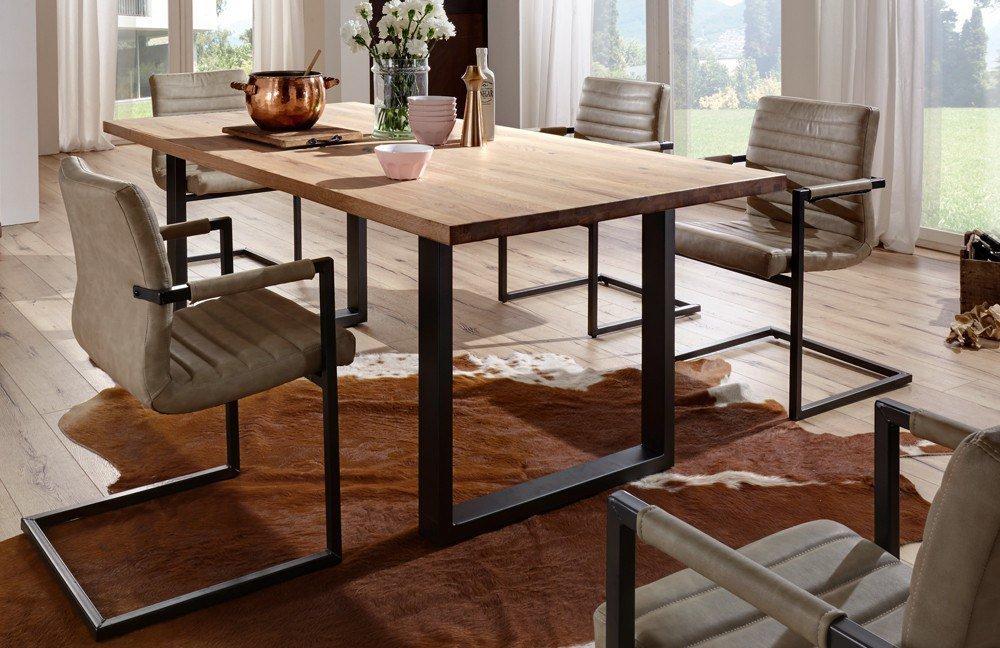esstisch brooklyn wildeiche natur schwarz m bel letz ihr online shop. Black Bedroom Furniture Sets. Home Design Ideas