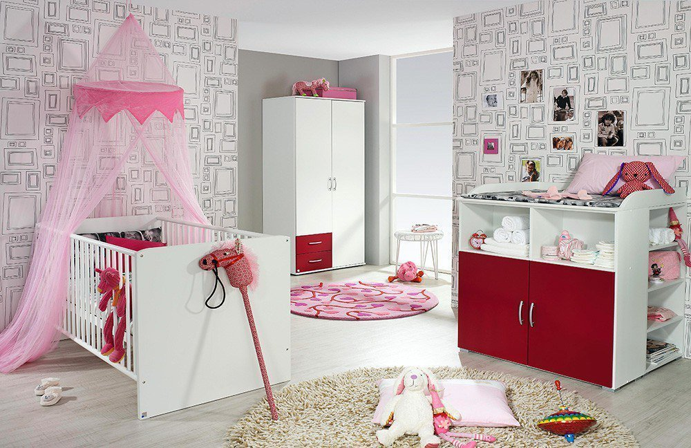 babyzimmer lissie kollektion letz wei rot m bel letz ihr online shop. Black Bedroom Furniture Sets. Home Design Ideas