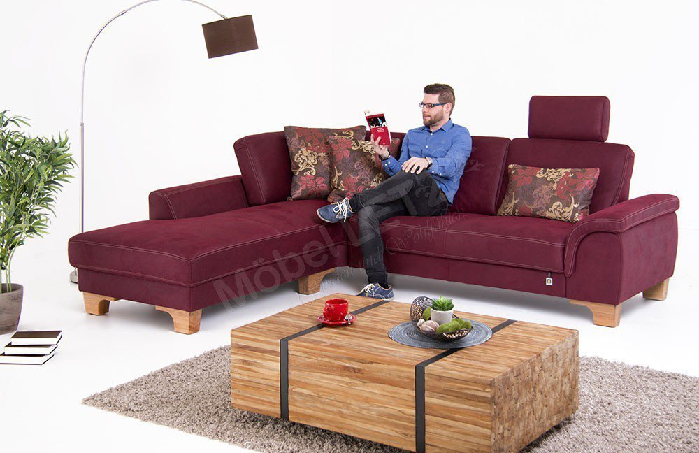 f s polsterm bel 214 parma eckgarnitur bordeaux m bel letz ihr online shop. Black Bedroom Furniture Sets. Home Design Ideas