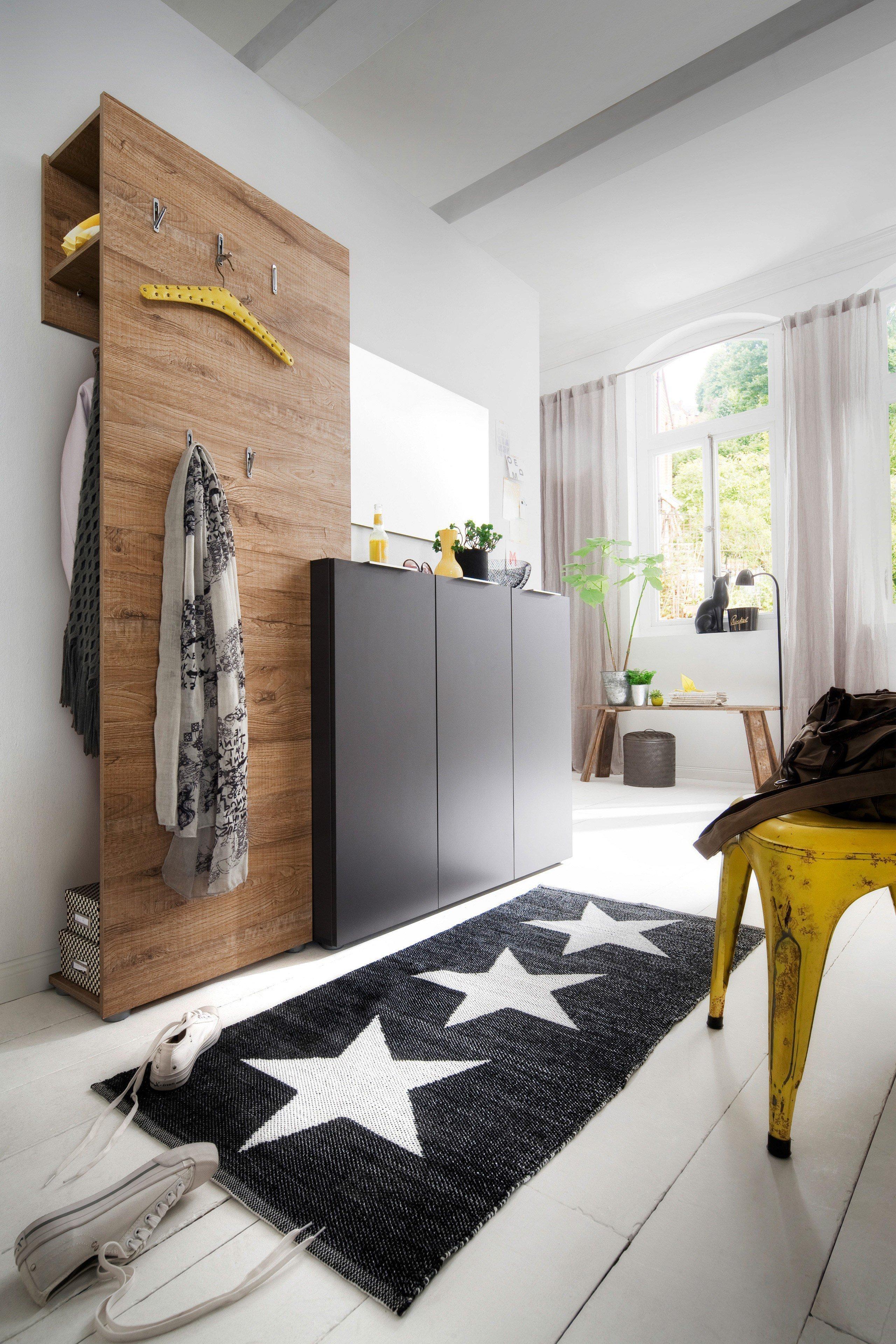 Mca furnituregarderobe vicenza dartford eiche anthrazit for Garderobe design modern