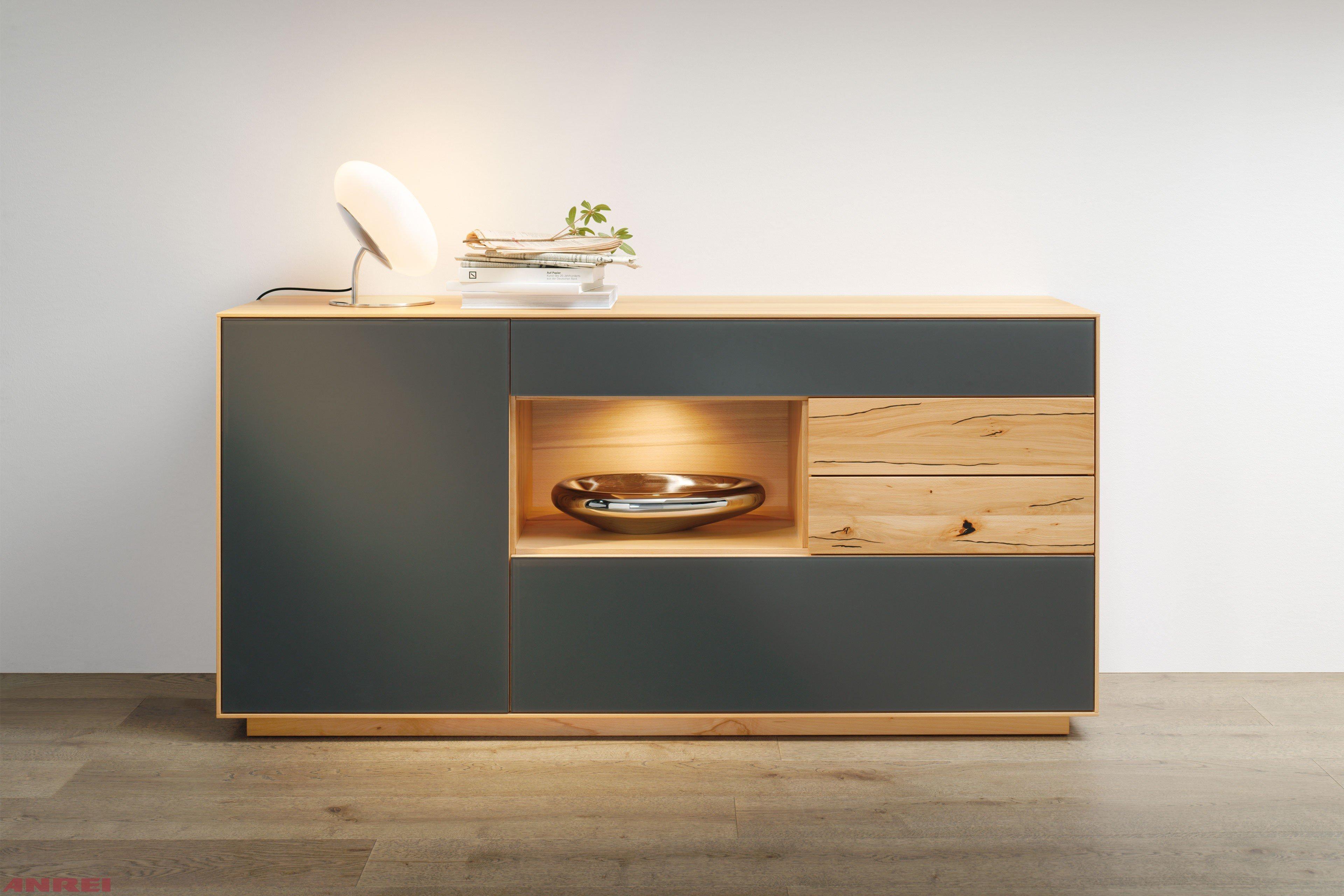 ANREI Sideboard Puro Kernbuche/ MDF | Möbel Letz - Ihr Online-Shop
