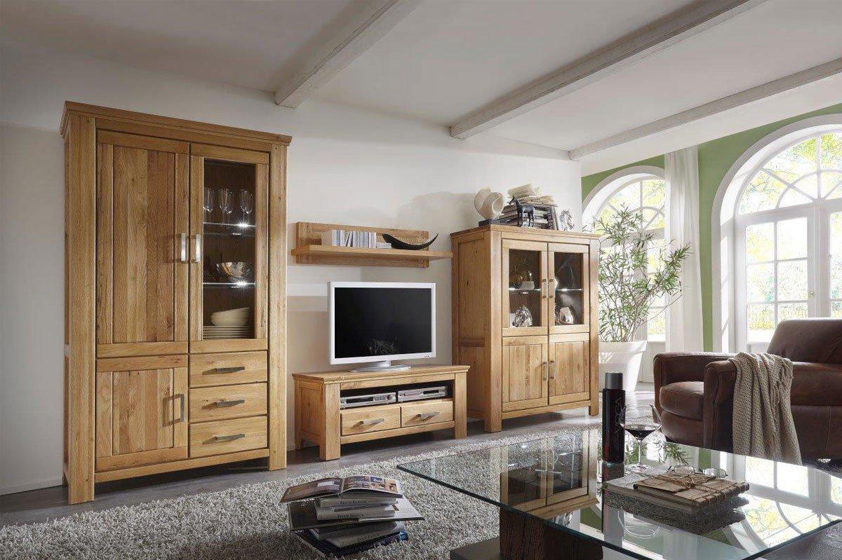 Wohnwand Siena A 05102 Wildeiche von Quadrato | Möbel Letz   Ihr