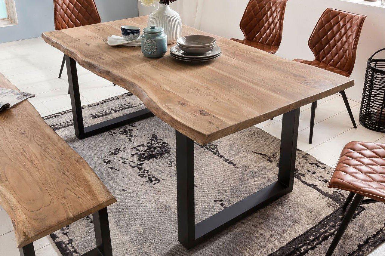 bank manhattan akazie ca 180 cm m bel. Black Bedroom Furniture Sets. Home Design Ideas