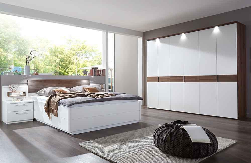 lovely schlafzimmer weiss #2: Calida von Disselkamp - Schlafzimmer weiß Nussbaum