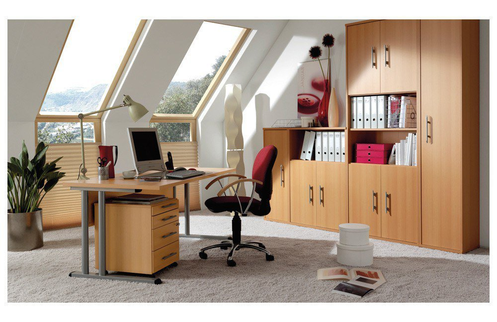 Welle Schreibtisch Büro Combi+ 4 in Buche. | Möbel Letz - Ihr Online ...