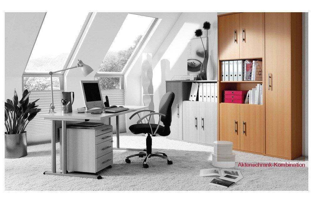 Welle Schreibtisch Büro Combi+ 4 in Buche. | Möbel Letz - Ihr ...