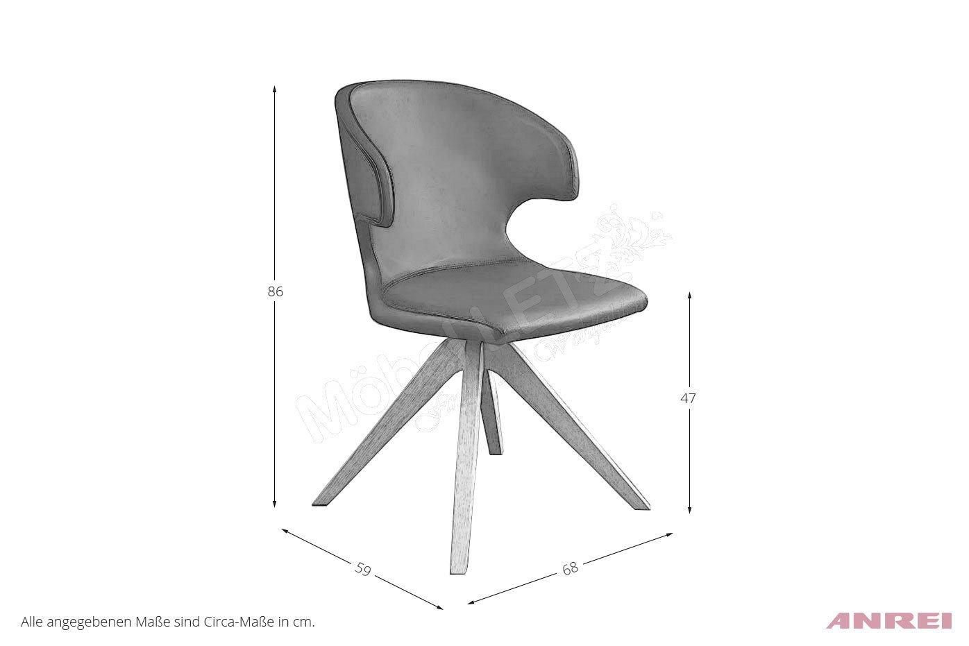 drehstuhl 720 leder asteiche von anrei m bel letz ihr. Black Bedroom Furniture Sets. Home Design Ideas