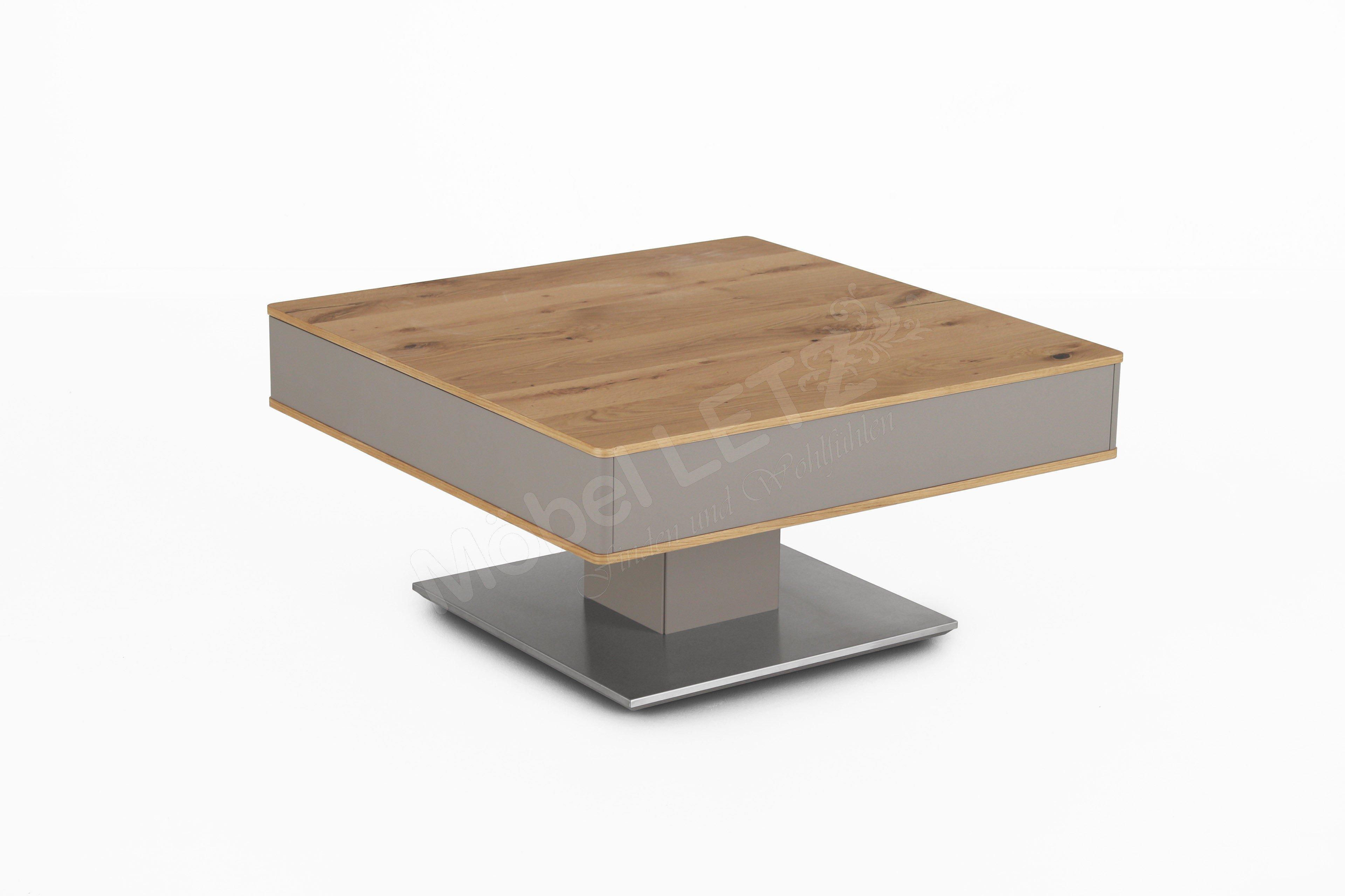Gwinner Couchtisch CT30285L Eiche mit Stauraum  Möbel