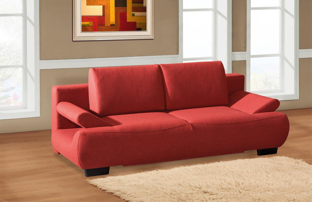 restyl alissa schlafsofa in rot mit bettkasten m bel letz ihr online shop. Black Bedroom Furniture Sets. Home Design Ideas