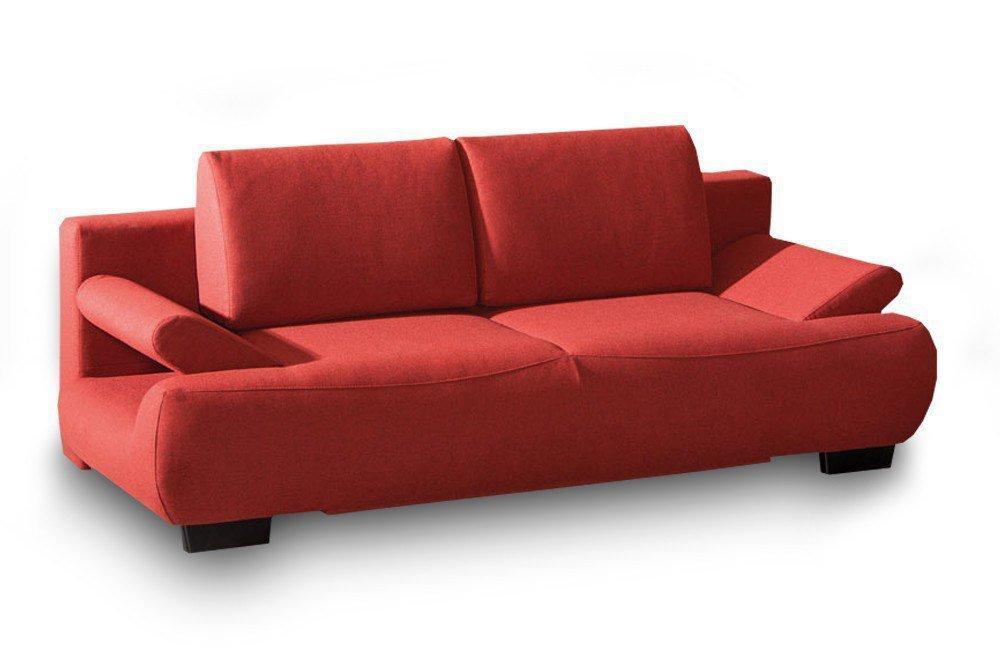 restyl alissa schlafsofa in rot mit bettkasten m bel letz ihr online shop. Black Bedroom Furniture Sets. Home Design Ideas