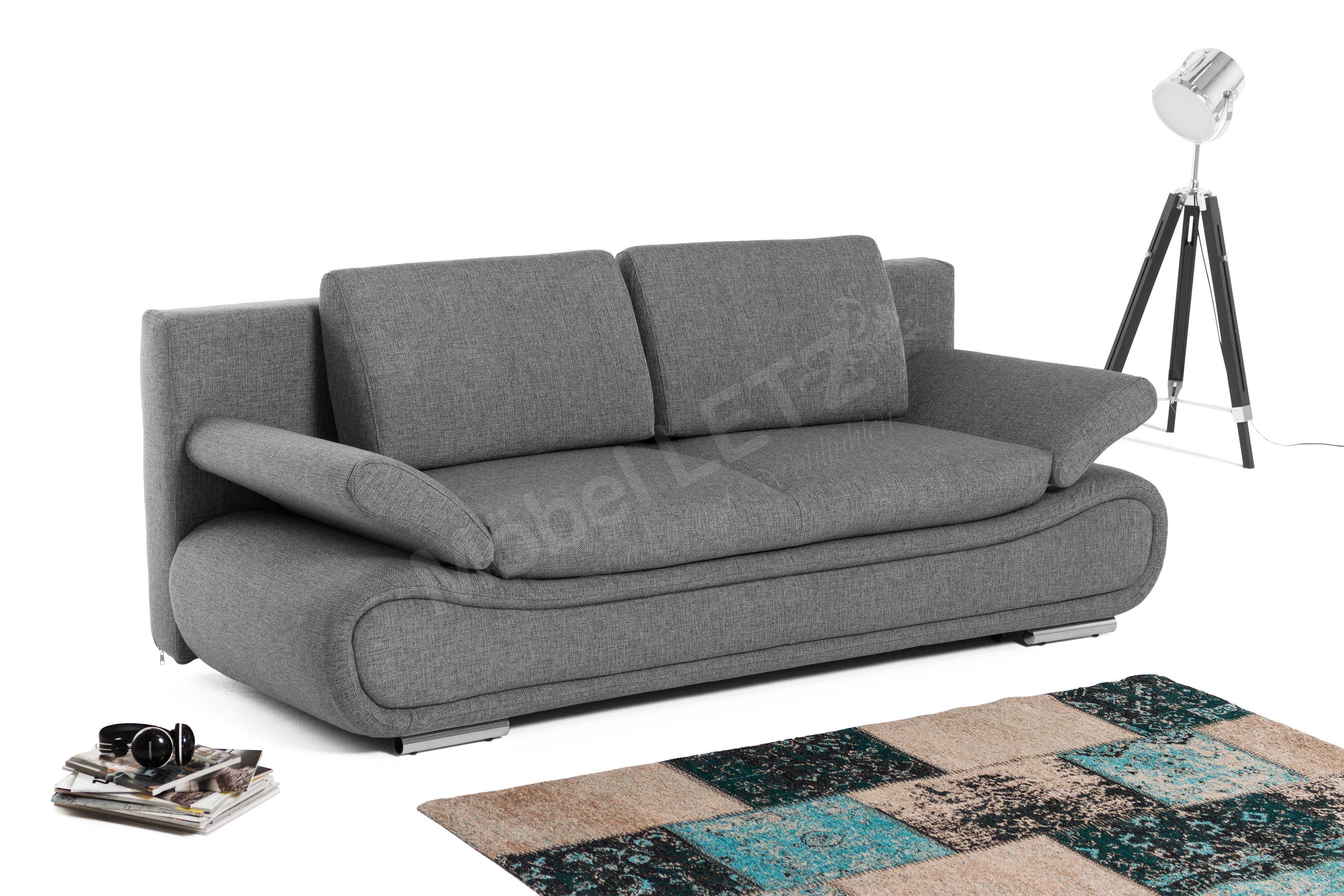 kollektion letz veda schlafsofa grau m bel letz ihr online shop. Black Bedroom Furniture Sets. Home Design Ideas