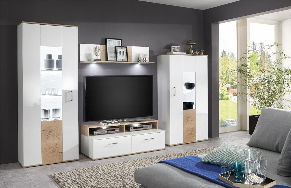 anzani mbel amazing interesting siena von rmi mbel wohnwand sonoma eiche with mbel eiche with. Black Bedroom Furniture Sets. Home Design Ideas
