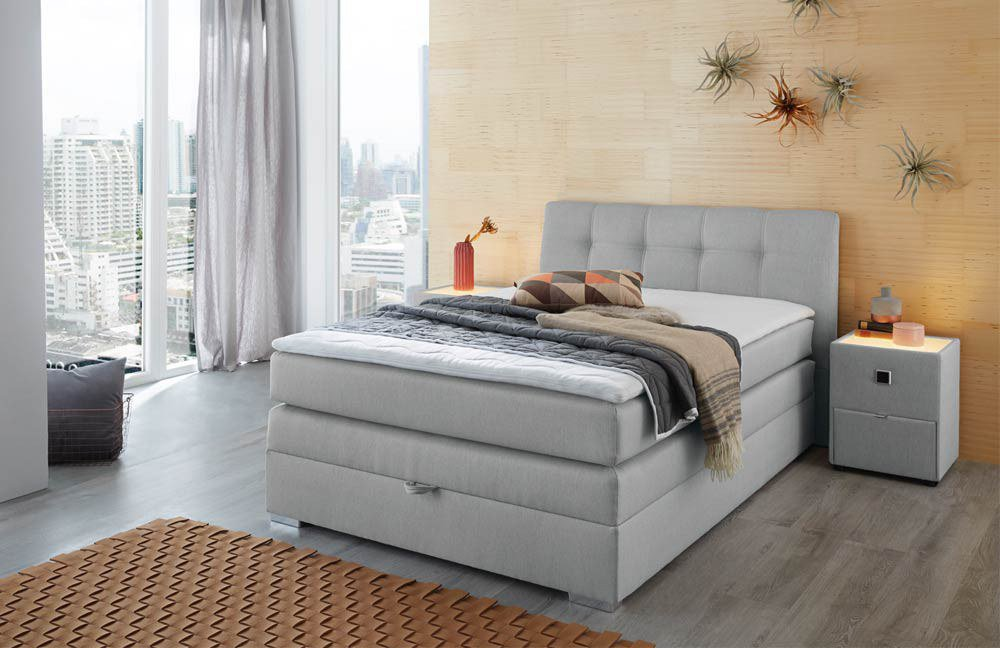 jockenh fer amelie vally boxspringbett grau m bel letz. Black Bedroom Furniture Sets. Home Design Ideas