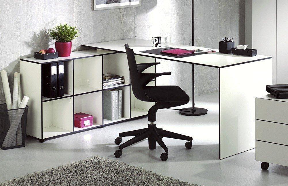 Reinhard coco Schreibtisch-Kombi weiß | Möbel Letz - Ihr Online-Shop