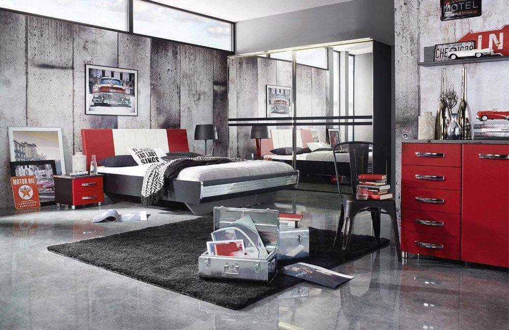 Schlafzimmer schwarz weis rot raum und m beldesign inspiration for Einfach schlafzimmer schwarz weis