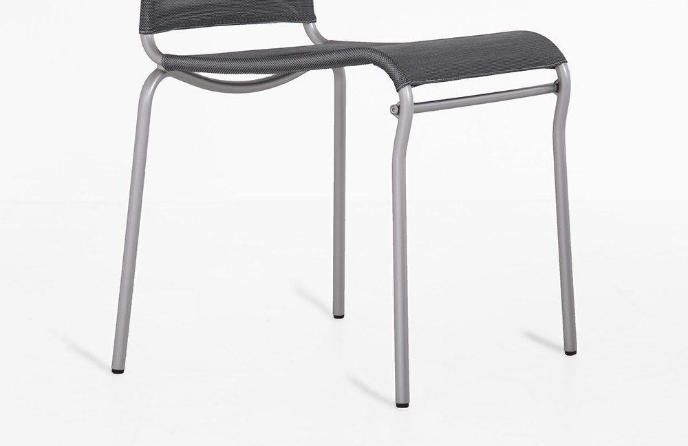 Stuhl air high net steel metall satiniert von connubia by for Calligaris air high
