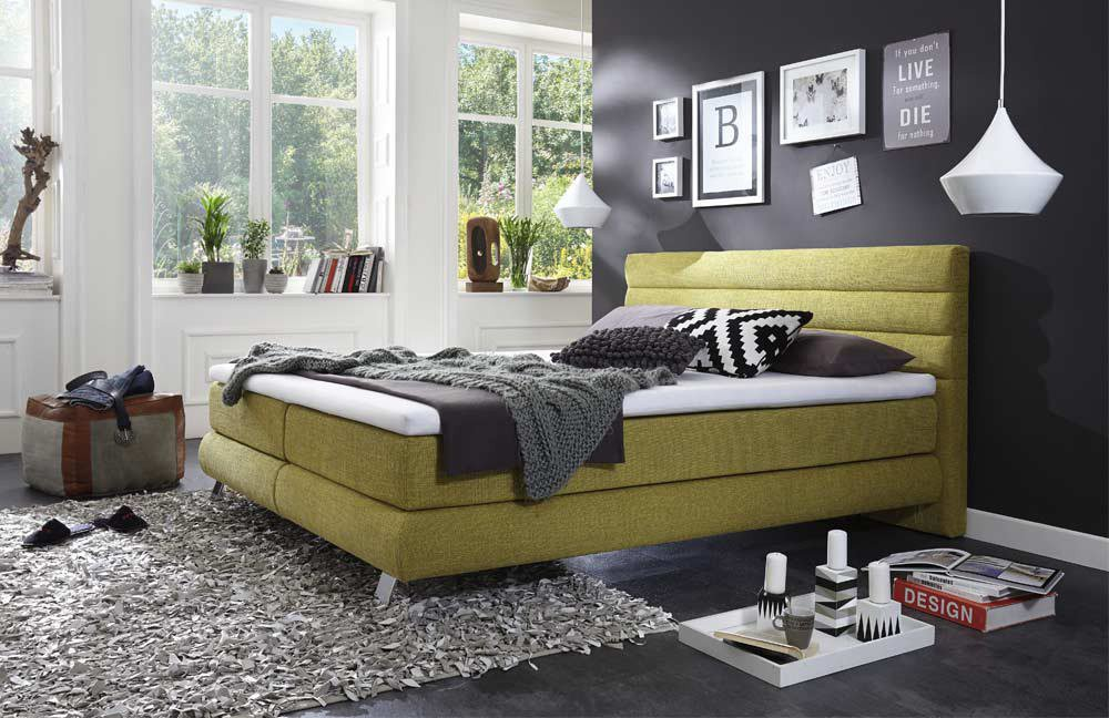 otten sydney boxspringbett in gr n m bel letz ihr. Black Bedroom Furniture Sets. Home Design Ideas