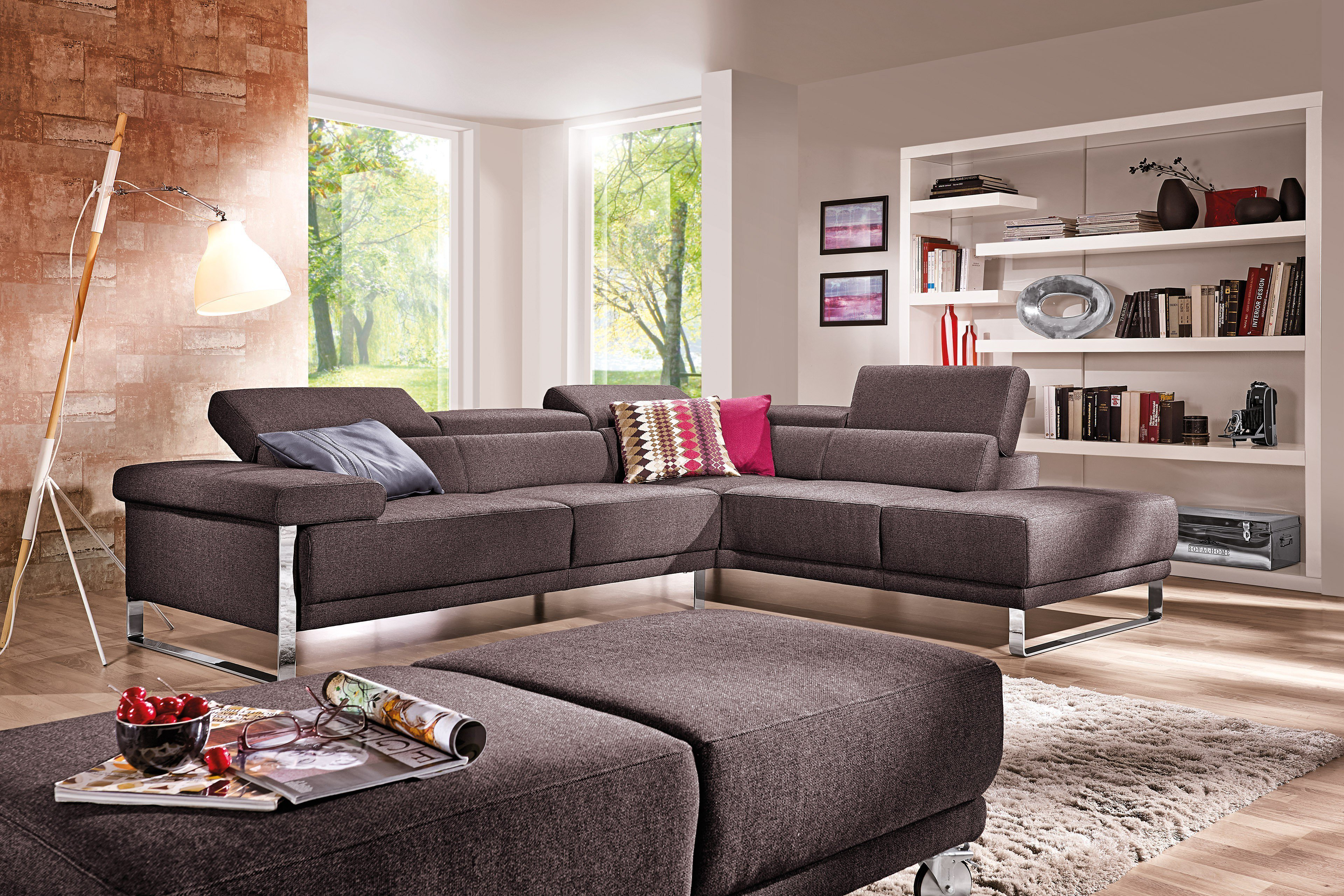 willi schillig 21151 floyd eckgarnitur braun m bel letz ihr online shop. Black Bedroom Furniture Sets. Home Design Ideas