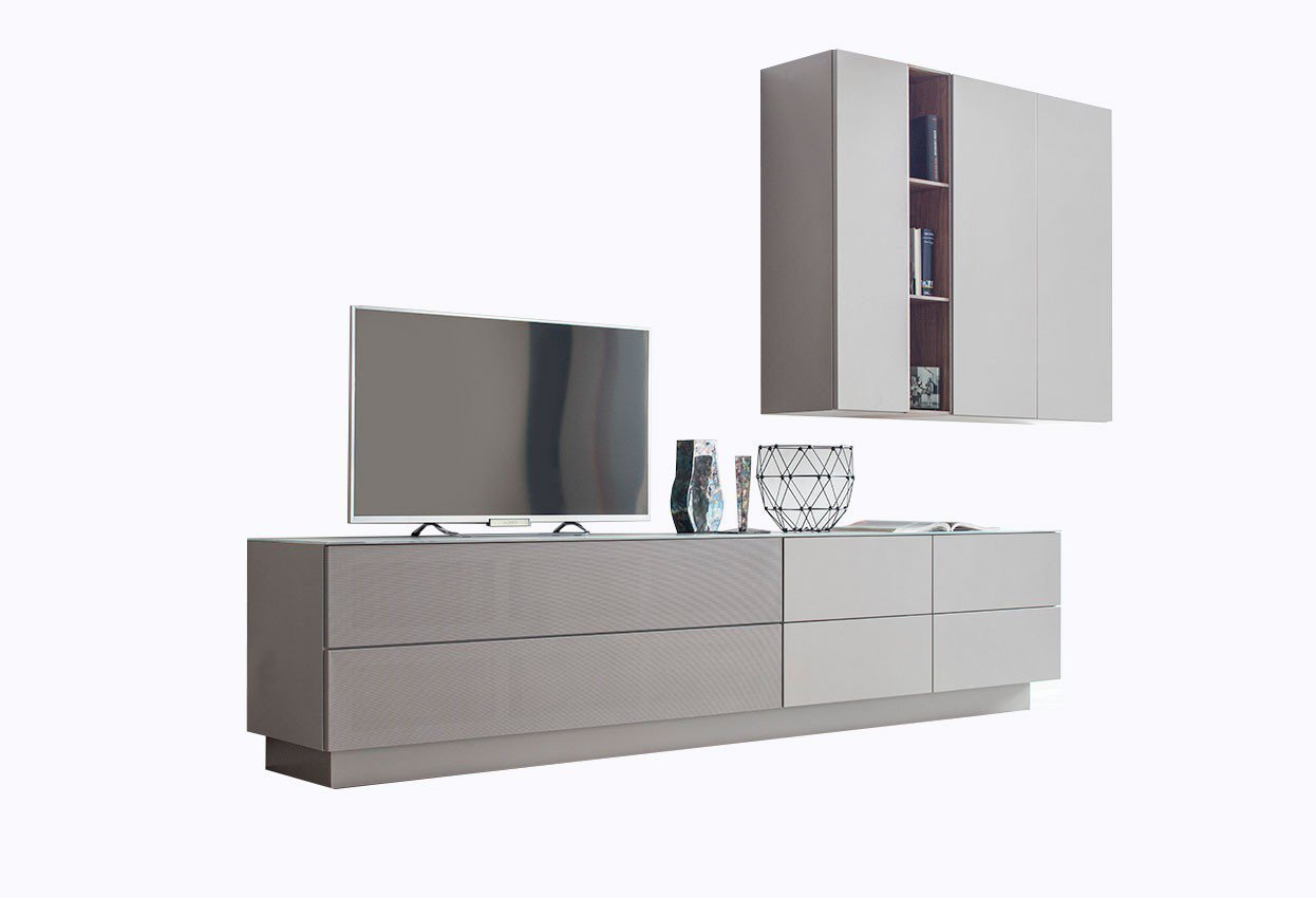 sudbrock wohnwand cubo v61 glattlack terra nussbaum natur m bel letz ihr online shop. Black Bedroom Furniture Sets. Home Design Ideas