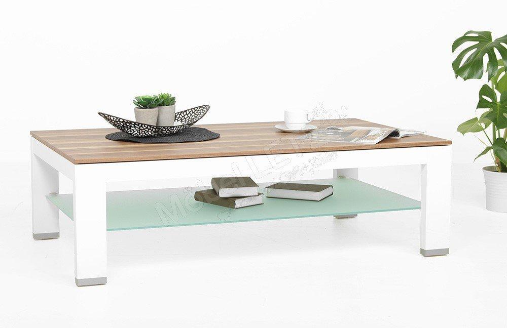 couchtisch cth125b nussbaum wei von gwinner wohndesign m bel letz ihr online shop. Black Bedroom Furniture Sets. Home Design Ideas