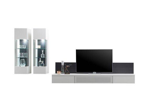 sudbrock wohnwand cubo v24 glattlack wei eiche anthrazit m bel letz ihr online shop. Black Bedroom Furniture Sets. Home Design Ideas