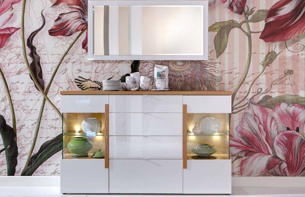 Sideboard Dubai 4746 weiß/ Eiche Bianco von Domina Möbel ...