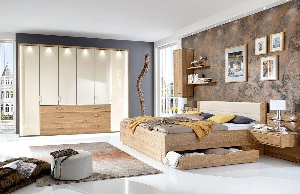 Lido von Wiemann - Schlafzimmer Eiche - Glas magnolie