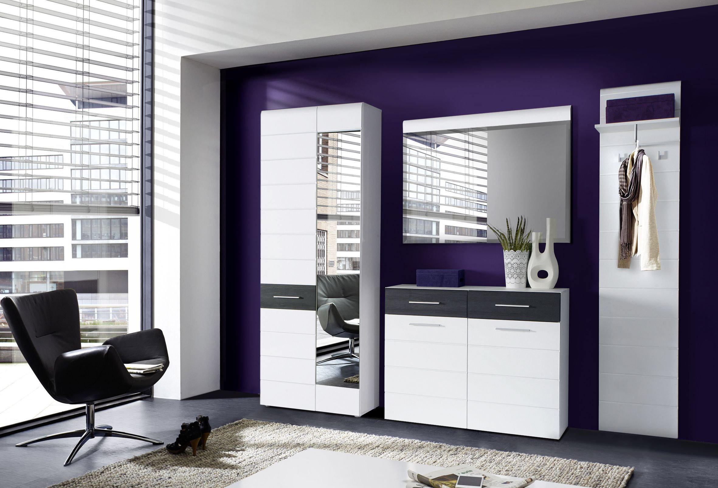 garderobe polar zia wei von forte m bel letz ihr. Black Bedroom Furniture Sets. Home Design Ideas