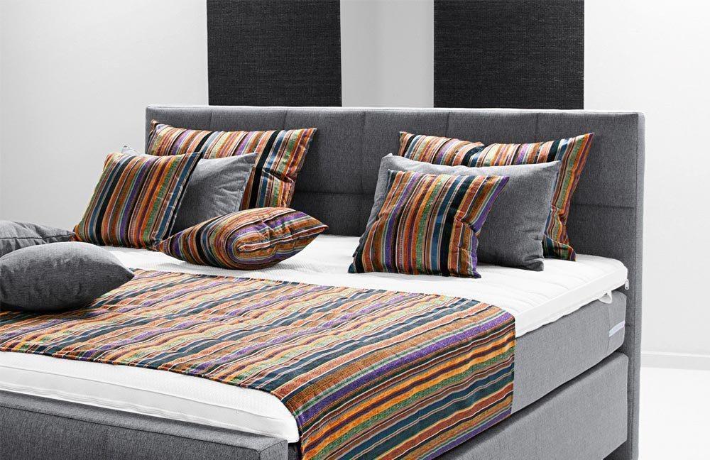 breckle boxspringbett europa prudi in grau m bel letz ihr online shop. Black Bedroom Furniture Sets. Home Design Ideas