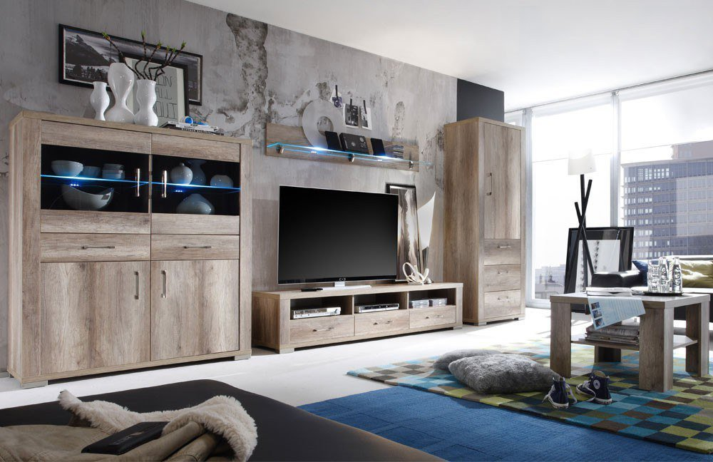 m usbacher wohnwand matti v3 wildeiche tr ffel m bel letz ihr online shop. Black Bedroom Furniture Sets. Home Design Ideas