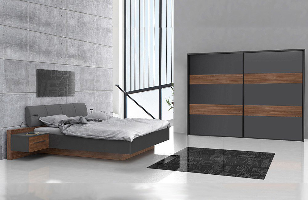 forte schlafzimmer le mans eiche grau m bel letz ihr online shop. Black Bedroom Furniture Sets. Home Design Ideas