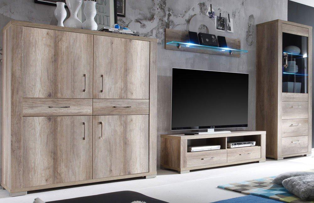 m usbacher wohnwand matti v6 tr ffel eiche m bel letz. Black Bedroom Furniture Sets. Home Design Ideas