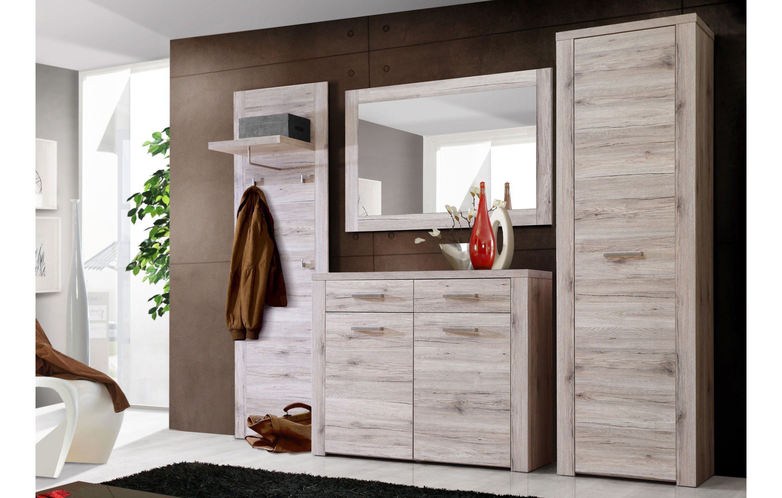 forte garderobe portland sandeiche m bel letz ihr online shop. Black Bedroom Furniture Sets. Home Design Ideas