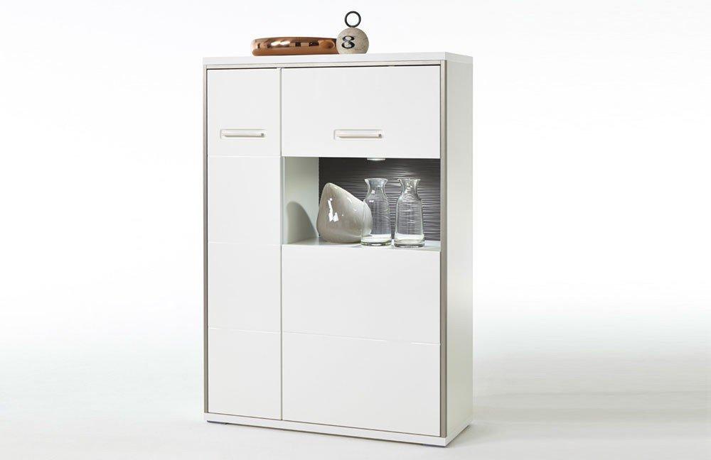 MCA Furniture Highboard Trento Weiss