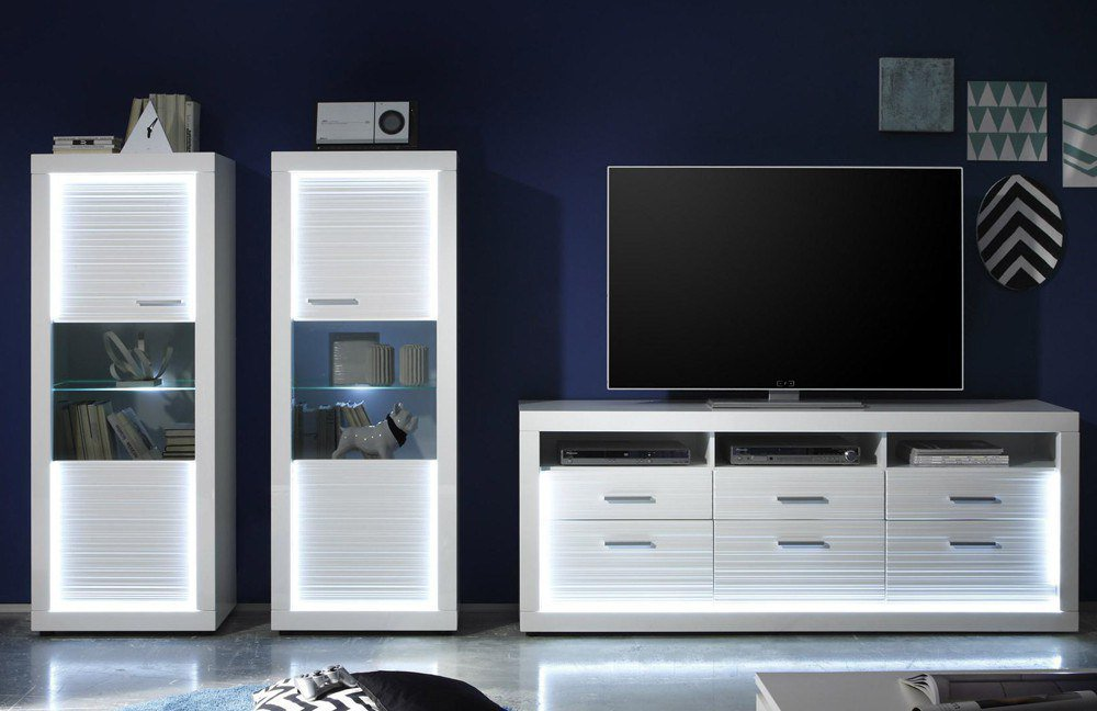 trendteam wohnwand starlight v1 m bel letz ihr online shop. Black Bedroom Furniture Sets. Home Design Ideas