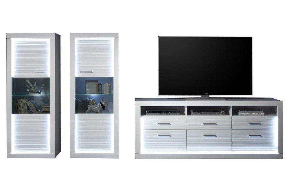 trendteam wohnwand starlight v1 m bel letz ihr online shop. Black Bedroom Furniture Sets. Home Design Ideas