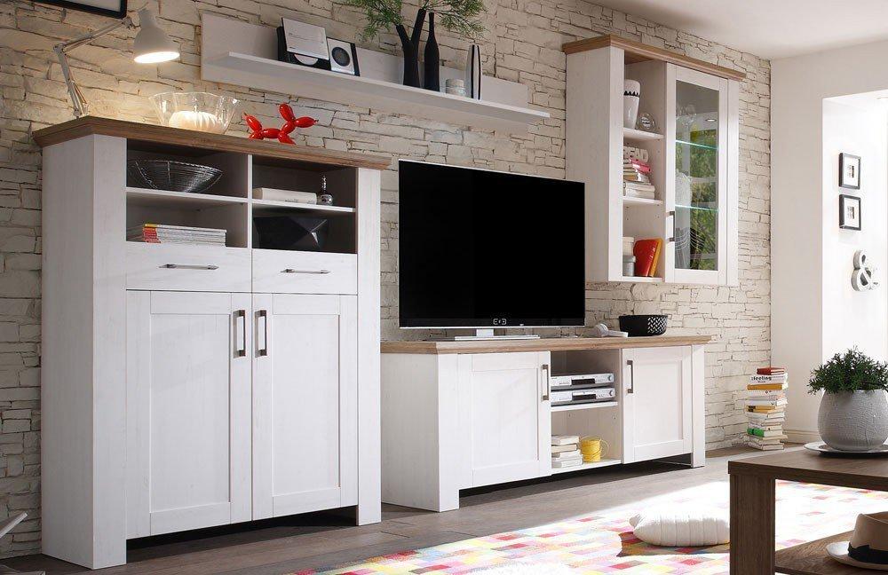 m usbacher wohnwand country v2 pinie anderson eiche m bel letz ihr online shop. Black Bedroom Furniture Sets. Home Design Ideas