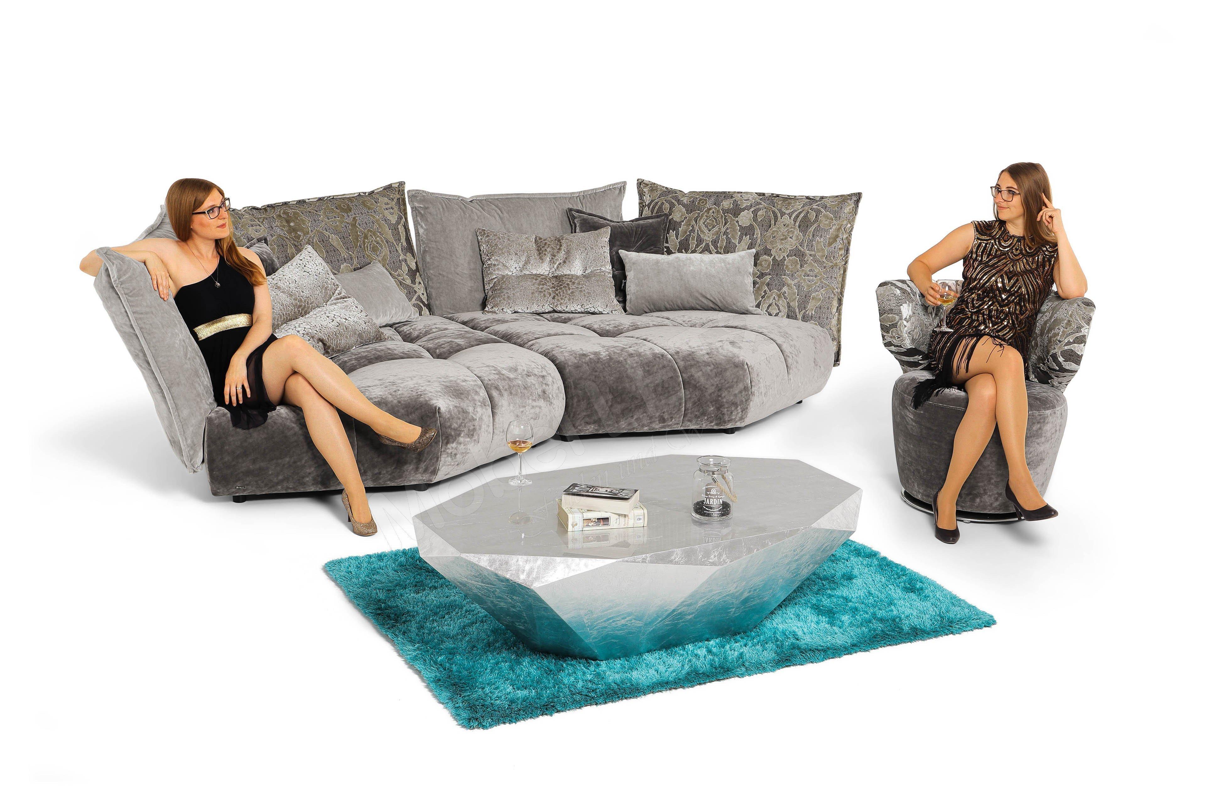 Bretz Matilda Sofa panter-deep blue | Möbel Letz - Ihr Online-Shop