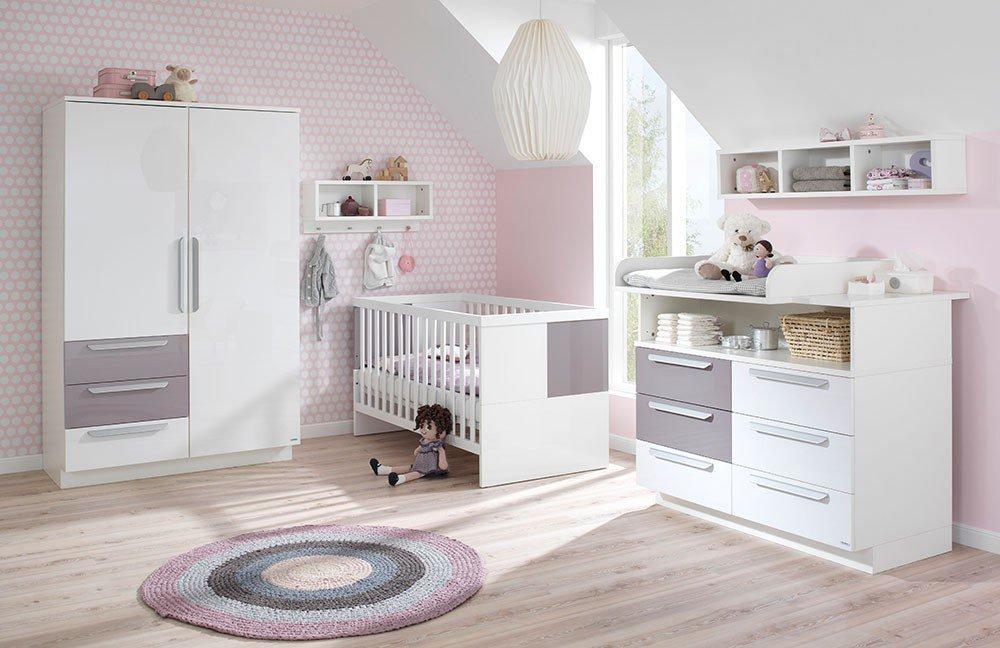Wellem bel babyzimmer milla wei lilac grey m bel letz for Babyzimmer shop