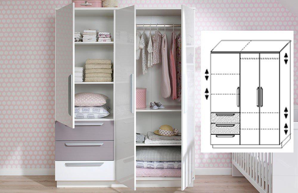 Wellemöbel Babyzimmer Milla weiß lilac grey | Möbel Letz - Ihr ...