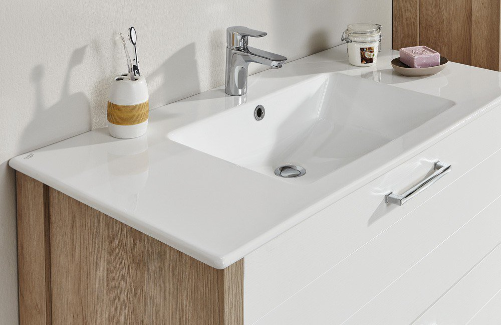 Badezimmer Tierra Weiß/ Eiche von puris | Möbel Letz - Ihr Online-Shop