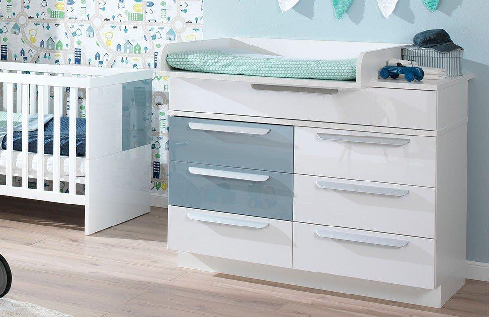 Milla Von Wellemöbel   Babyzimmer Weiß Pacific Blau