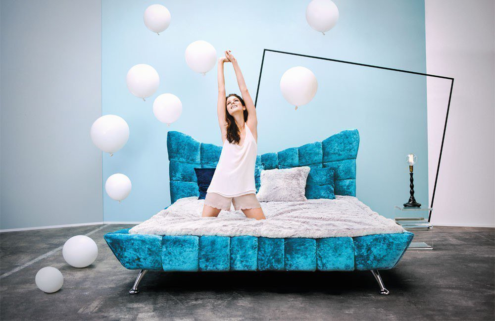 bretz cloud 7 polsterbett capriblau m bel letz ihr online shop. Black Bedroom Furniture Sets. Home Design Ideas