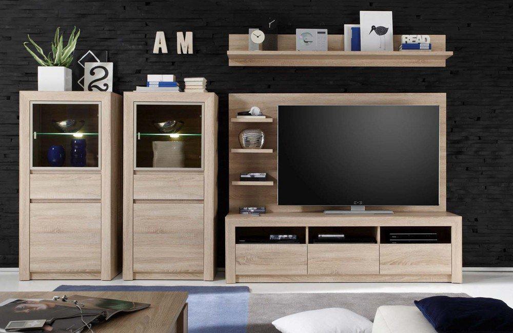 trendteam wohnwand sevilla 1415 963 45 m bel letz ihr online shop. Black Bedroom Furniture Sets. Home Design Ideas
