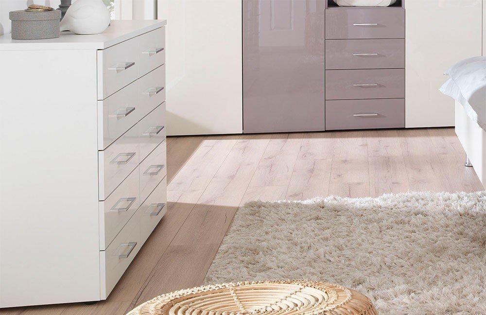 ... KSW Von Wellemöbel   Komplett Schlafzimmer Weiß   Lila ...