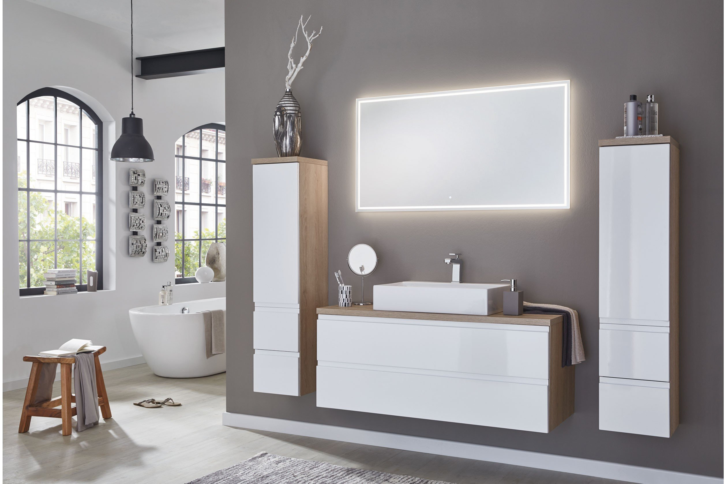 badezimmer variado 2.0 eiche weiß/ eiche von puris | möbel letz, Badezimmer
